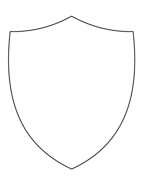 school shield template shield pattern use the printable outline for crafts