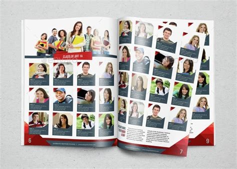 Yearbook Template Design Vol 2 By Hiro27 Graphicriver Yearbook Collage Template