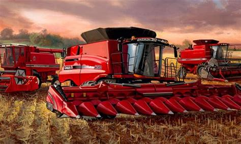 harvester new years browse through ih s axial flow combines ih
