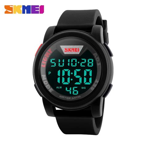 skmei trendy led display water resistant 50m