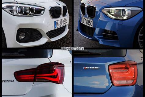 Bmw 1er Facelift Unterschiede 2015 by Bild Vergleich Bmw 1er M Sport 2015 Trifft Pre Facelift