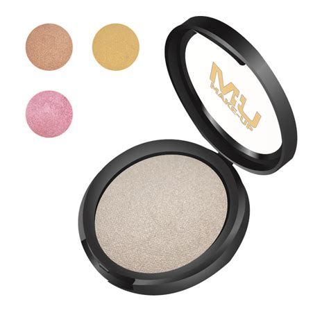 polvere illuminante viso illuminante cotto in polvere compatta mu make up mu makeup