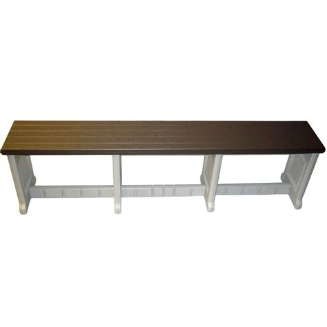 pvc bench 74 inch plastic patio bench in outdoor benches