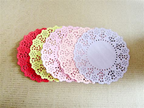 Paper Doilies Crafts - free shipping mixed coloured absorbing 5colors lace