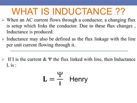 a what is the inductance of the inductor inductance of a transmission lines