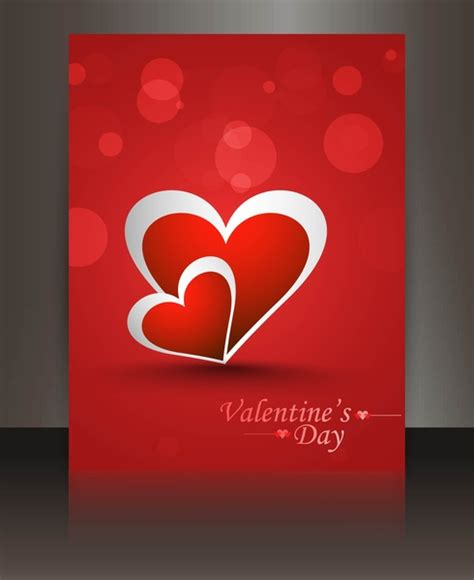 valentines card landscape templates free valentines day card reflection brochure template