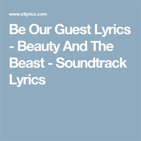 be our guest mp3 download beauty and the beast be our guest lyrics beauty and the beast soundtrack