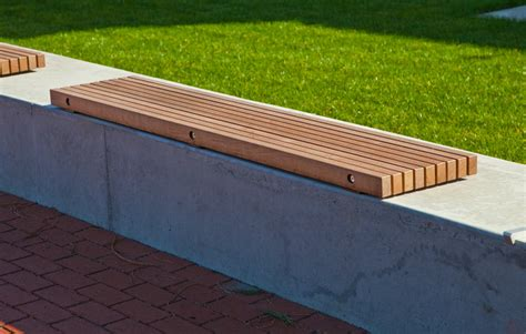 wall seating bench timberform site furnishings