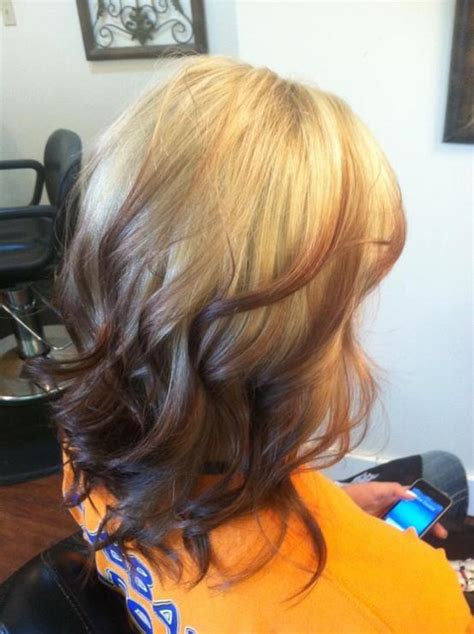 reverse ombre short hair reverse ombre