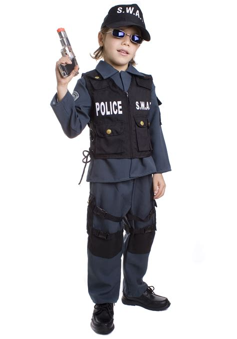 Officer Costume by Toddler Swat Officer Costume