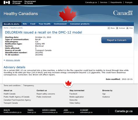 delorean flux capacitor recall trending canadian government recalls delorean due to flux capacitor defect citynews toronto
