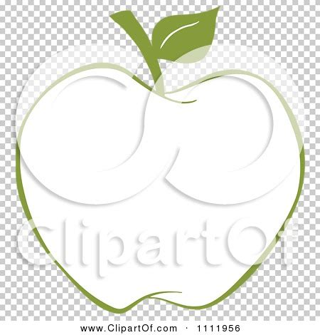 Green Apple Outline by Clipart Green Apple Outline Royalty Free Vector Illustration By Hit 1111956