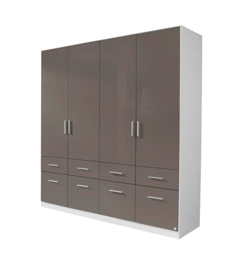 armoire 8 portes armoire 4 portes 8 tiroirs celle blanc gris brillant