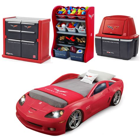 cars bedroom furniture corvette 174 bedroom combo kids furniture by step2