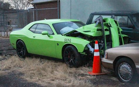 challenger crash dodge challenger image dodge challenger hellcat crash
