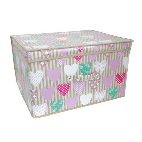 jumbo storage chest box boxes bedroom room storage chest box trunk 50x30x40cm ebay