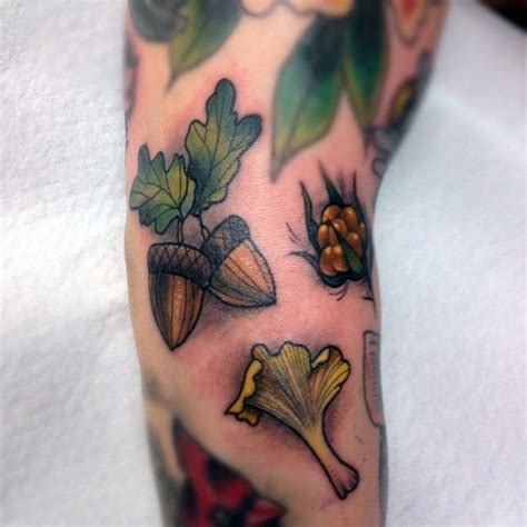 acorn tattoo 70 acorn designs for oak ink ideas