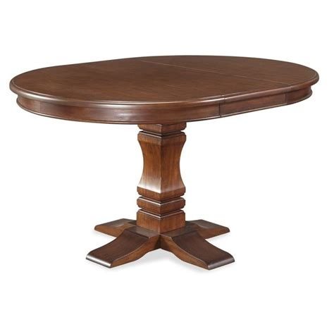 Aspen Dining Table Aspen Pedestal Dining Table In Rustic Cherry 5520 30