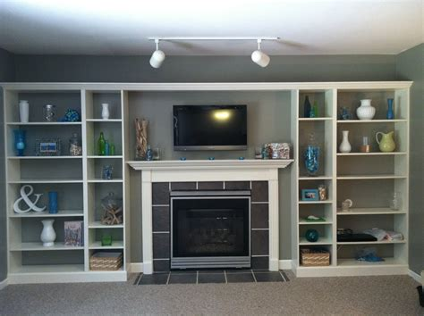 Built In Shelves Around Fireplace by Faux Built In Billy Bookcase Hack Hearthavenhome