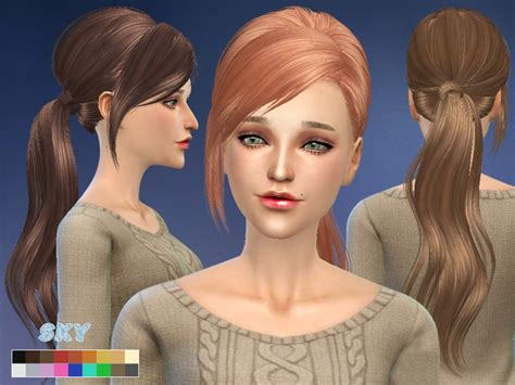 the sims 4 cc hair ponytail skysims hair 208 sims 4 updates sims 4 finds sims