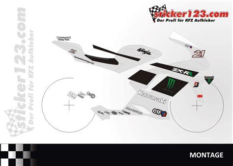 Monster Aufkleber Set Kawasaki by Sticker123