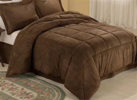 microsuede down alternative comforter chocolate microsuede down comforter alternative 4pc