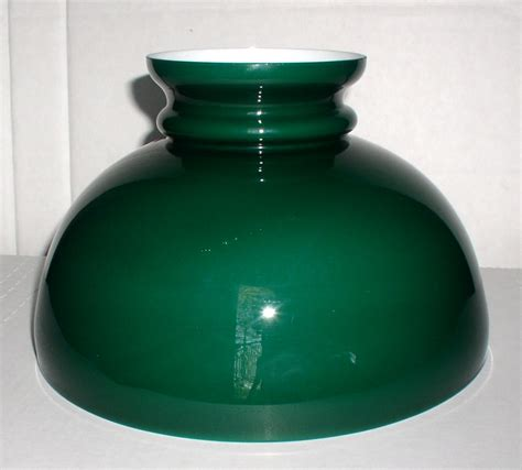 oil l glass shade vintage green cased glass 10 oil l shade aladdin b h