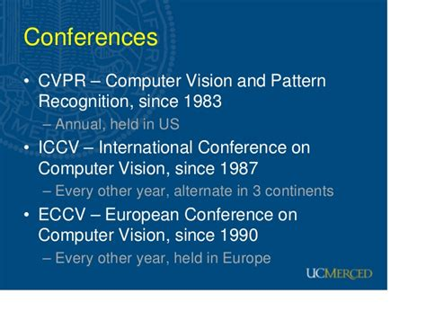 pattern recognition and machine learning conferences recent advances in computer vision