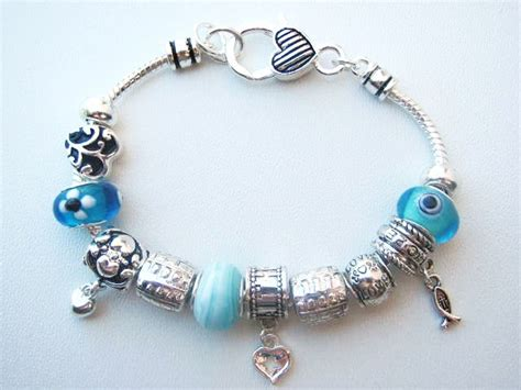 pandora inspired faith charm bead bracelet fish