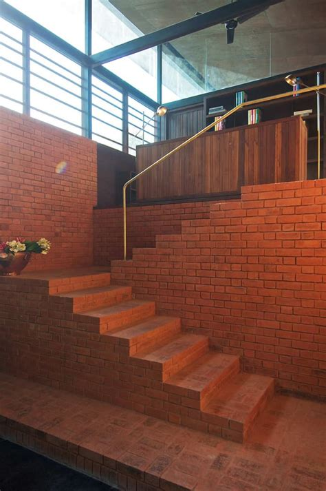 brick house interior design the brick kiln house by spasm design architects india