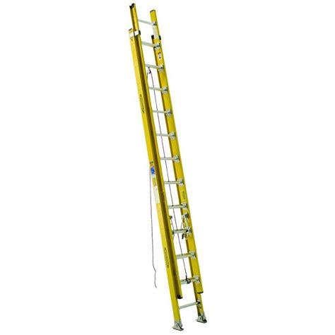 werner 3 section extension ladder werner 24 ft aluminum 3 section compact extension ladder