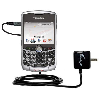 In Charger Bb 8310 gomadic intelligent compact ac home wall charger suitable for the blackberry 8300 8310 8320 8330