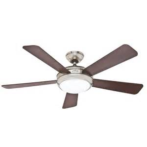 Flush Mount Ceiling Fan Shop Palermo 52 In Brushed Nickel Downrod Or Flush