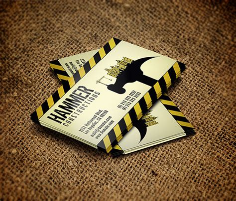 calling card template construction builder construction business card on behance