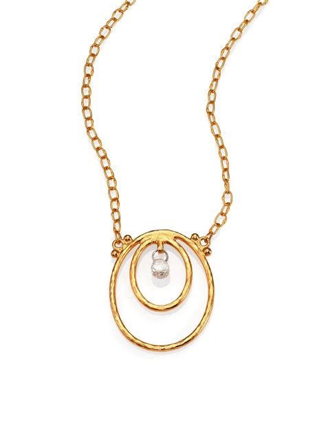 gurhan hoopla 24k yellow gold pendant necklace in