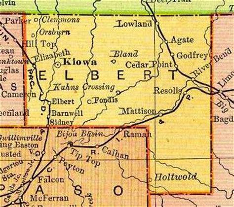County Colorado Records Elbert County Colorado Genealogy Census Vital Records