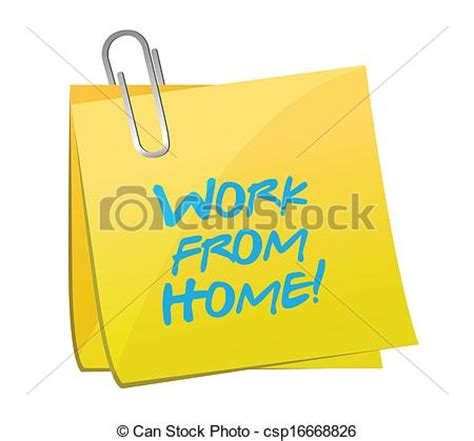design work from home vector illustration of work from home post message