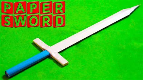 How Do You Make A Paper Sword - how to make a paper sword easy paper sword