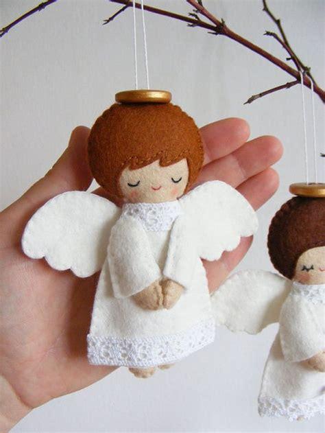 pattern felt angel pdf pattern felt angels christmas tree ornaments boy