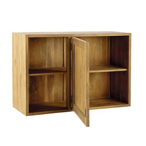 meuble d angle de cuisine meuble haut d angle de cuisine ouverture gauche en teck massif l 97 cm amsterdam maisons du monde
