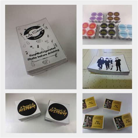 Label Berbagai Ukuran Perpax cetak stiker label bahan vinyl ukuran a3 murah desain gratis free cut