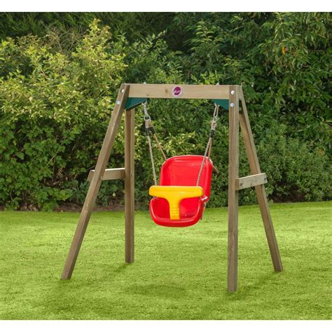 baby swing swing set plum wooden baby swing set