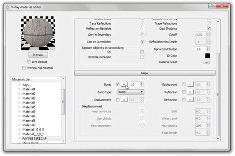 tutorial bump vray sketchup menggunakan bump dan displacement pada sketchup vray