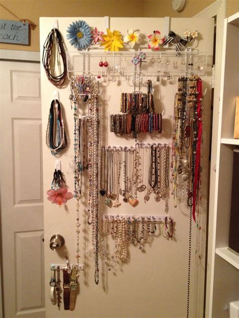 diy the door jewelry organizer plus command hooks