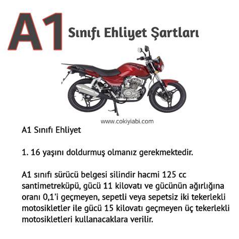 sinifi ehliyet sartlari hangi motorlari kullanir