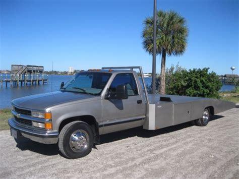 truck bed cer 1gbjc34j8yf515308 hodges body race car hauler ramp truck