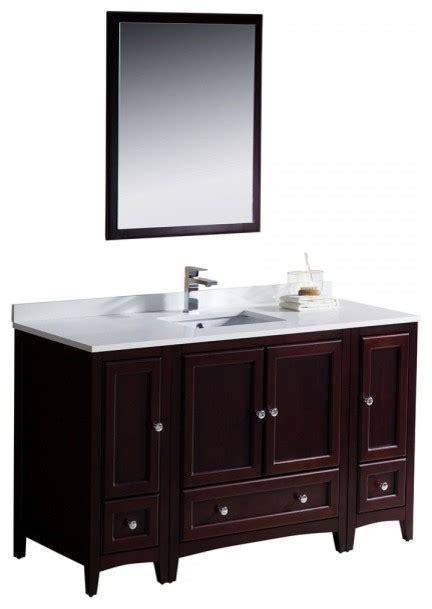 54 Bathroom Vanity Fresca Oxford 54 Quot Mahogany Traditional Bathroom Vanity Transitional Bathroom Vanities And
