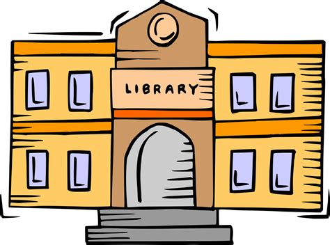 library clipart file library building clipart svg