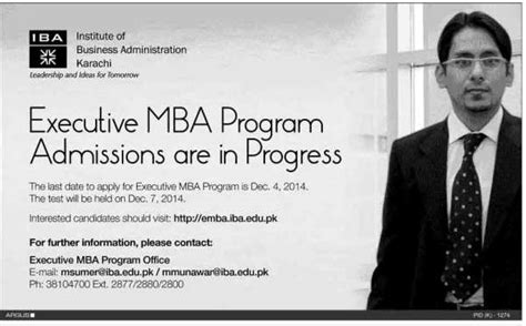 Mba Subjects In Karachi by Executive Mba Program Admissions In Iba Karachi Learningall