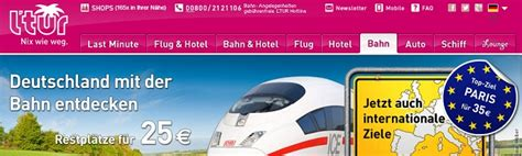 l tur bahn tickets ltur fernweh ticket one way tickets nach f 252 r 35
